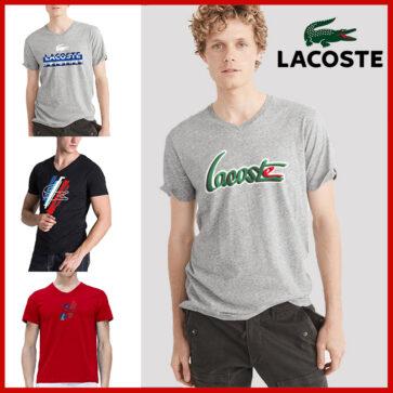 קטלוג חולצות קצרות וי לגברים לקוסט LACOSTE