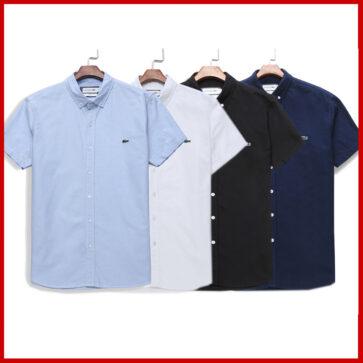 קטלוג חולצות מכופתרות קצרות לגברים לקוסט LACOSTE