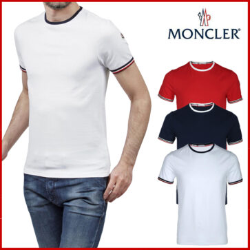 SHORT TSHIRT MEN MONCLER SIDE LOGO